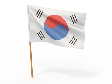 Flag of South Korea. 3d photo