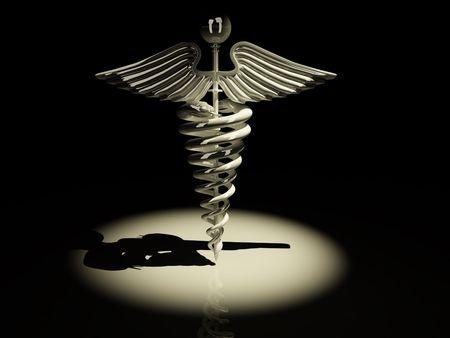 Symbol of medicine. 3d Stock Photo - 7638339