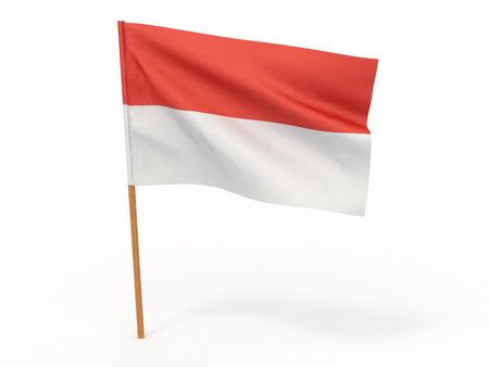 territorial: flag fluttering in the wind Indonesia. 3d Stock Photo