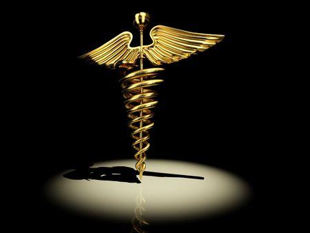 3d snake: Symbol of medicine. 3d