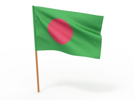 flag fluttering in the wind. Bangladesh. 3d photo
