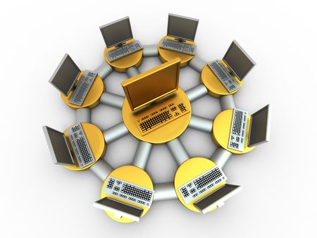 Conceptual image of local net. 3d Stock Photo - 7694941