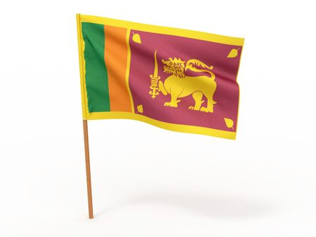 srilanka: flag fluttering in the wind. Sri-Lanka. 3d Stock Photo