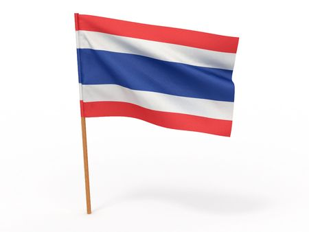 flag fluttering in the wind. Thailand. 3d Stock Photo - 7797342