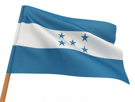 flag fluttering in the wind. Honduras. 3d photo