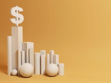 hegemony: hegemony of the dollar. abstract background. 3d Stock Photo