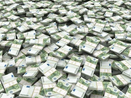 Wealth. Background from packs of euro. 3d Stock Photo - 8049998