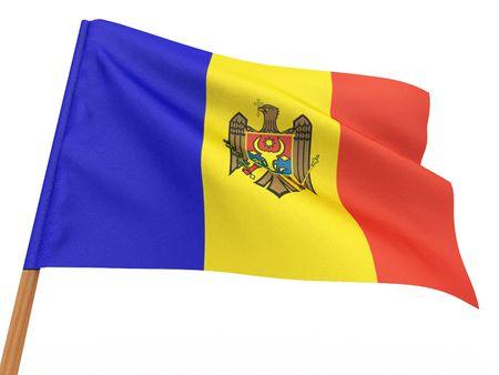 moldova: Flag of moldova . 3d