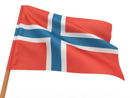 Flag of norway . 3d photo