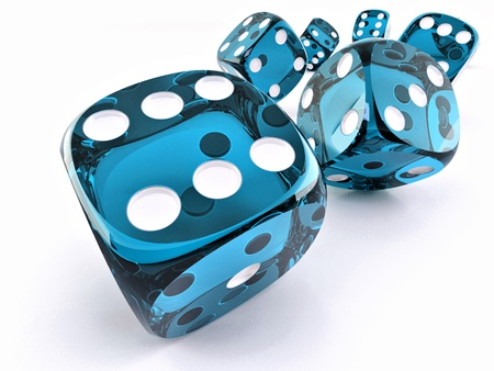 whote: Dice. Many cubes on whote background. 3d