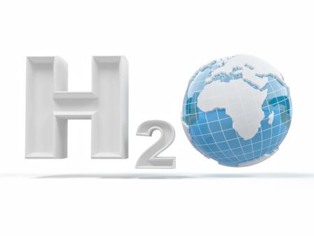 H2O. Formula of water. photo