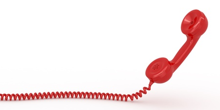 speaking tube: Phone reciever on white isolated background