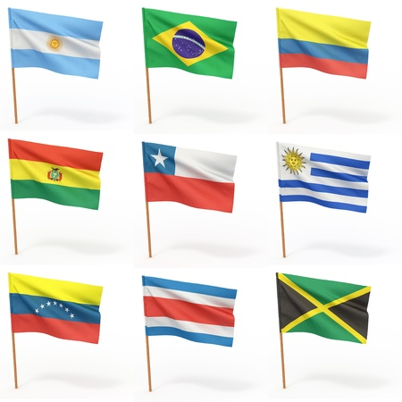 Flags of american country. Collection 3. Stock Photo - 8779633