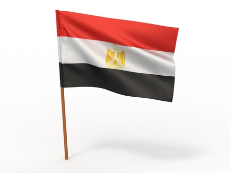 flag fluttering in the wind. Egypt. 3d photo
