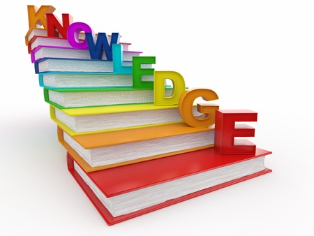 heap up: Word knowledge on books as staircase. 3d
