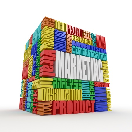 What is a Marketing. The concept of the words on white isolated background. 3d Stock Photo - 9883792