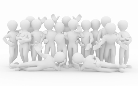 Friendship. Teamwork. Group of people on white isolated background. 3d photo