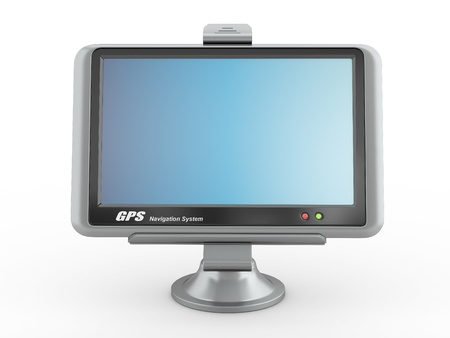 Navigation system. Gps on white isolated background. 3d Stock Photo - 10338197