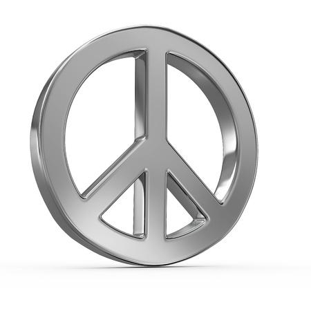 simbolo de la paz: Signo de la paz sobre fondo blanco aisladas. 3d