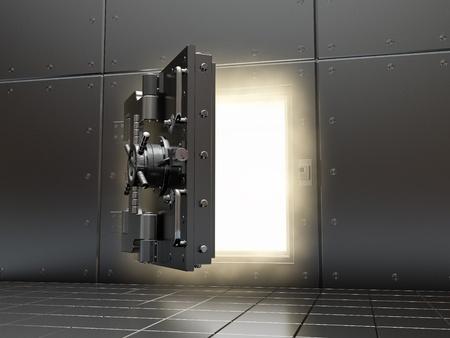 door bolt: Apertura de luz b�veda y volumen. Imagen tridimensional.