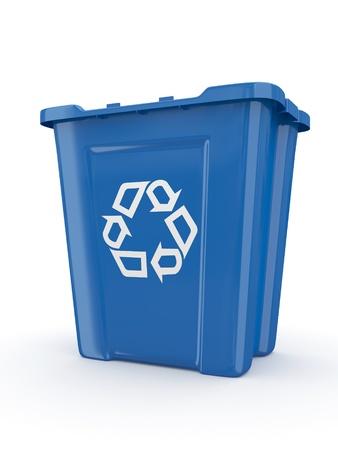 recycle bin: Vaciar papelera de reciclaje con signo. 3d Foto de archivo