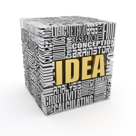 creative solutions: Idea. The concept of the words on white background. 3d
