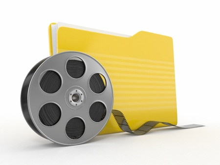 35mm: Multimedia archive. Film reel and folder.3d