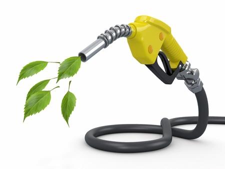 bomba de gasolina: Conservación Green Gas bomba boquilla y la hoja 3d