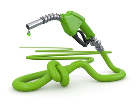 natural gas: Energy crisis  Gas pump nozzle tied in a knot  3d Stock Photo