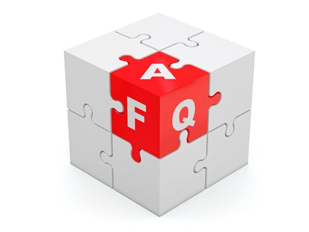 FAQ  Abstract cube Stock Photo - 13906396
