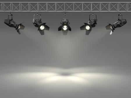 pallino: Faretti illuminato lo spazio della parete 3d per testo
