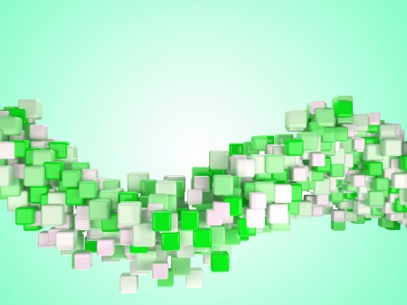 cubic: Cubes  Three-dimensional abstract digital cube background  3d Stock Photo