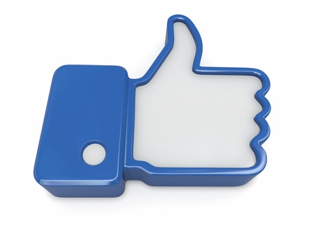 Like  Thumb up sign on white background  3d photo