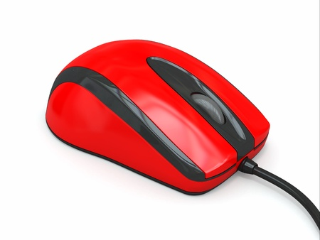 echnology: Computer optical mouse on white background  3d