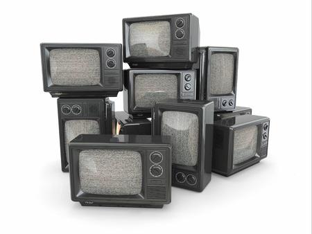 gürültü: Televizyon Kavramsal görüntü 3d vintage tv sonu yığın Stok Fotoğraf