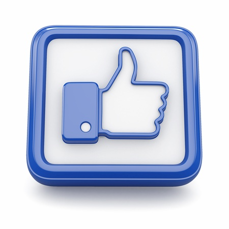like icon: Like  Thumb up sign on white background  3d