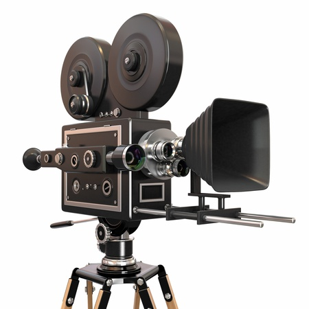reel: Vintage movie camera  3d