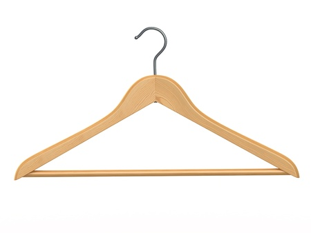coat rack:  Clothes hanger on white isolated  background  3d Stock Photo