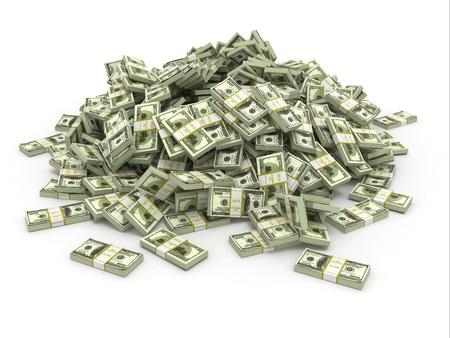 Dollars. Stapel von Packungen des Geldes. 3d Standard-Bild