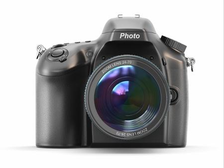 白い背景と分離デジタル写真カメラ 写真素材