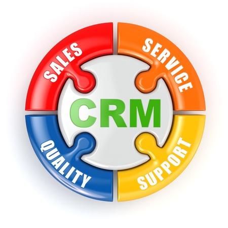 customer relationship: Customer relationship marketing concept Stock Photo