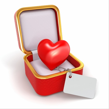 Heart in gift box photo