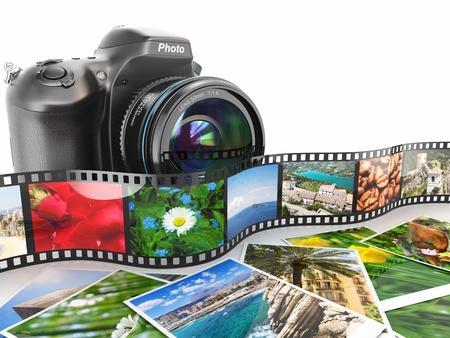 nature photography: DSLR camera, film and photos Stock Photo