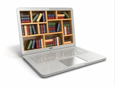 E-learning education or internet library. Conceptual image Stock Photo - 21069380