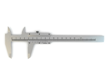 sliding caliper: Trammel  Stainless steel caliper on white isolated background  3d
