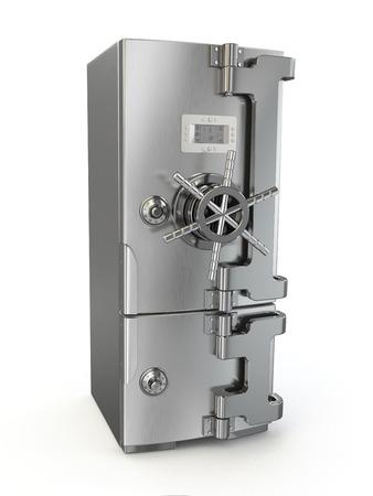 safe deposit box: Dieting concept. Refrigerator as safe deposit box. 3d