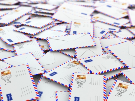 junk: Background from mailing letters Stock Photo