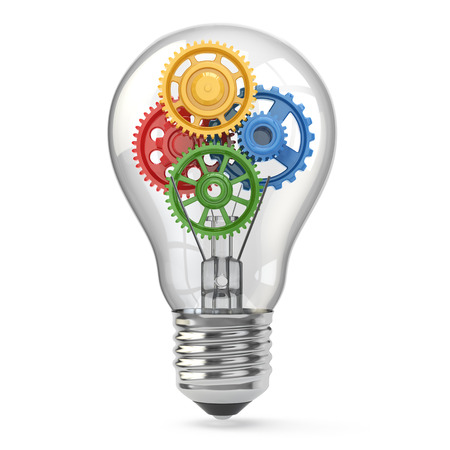 Light  bulb and gears