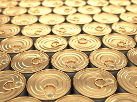 食品缶。被写し界深度と食料品の背景。 写真素材