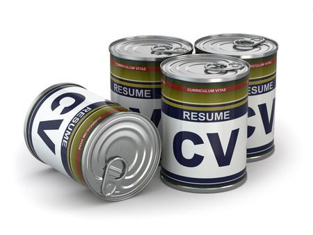 Cv can, Conceptual image of resume photo